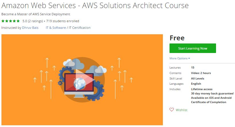 Udemy Coupon – Amazon Web Services – AWS Solutions Architect