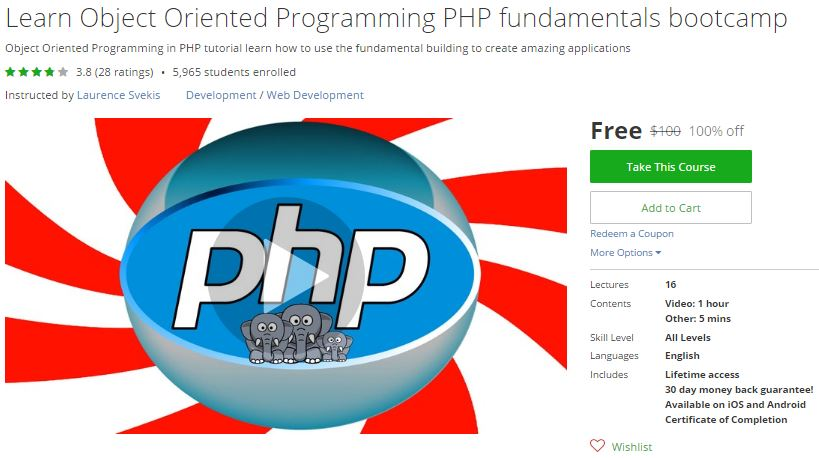 Learn php programming from scratch udemy free