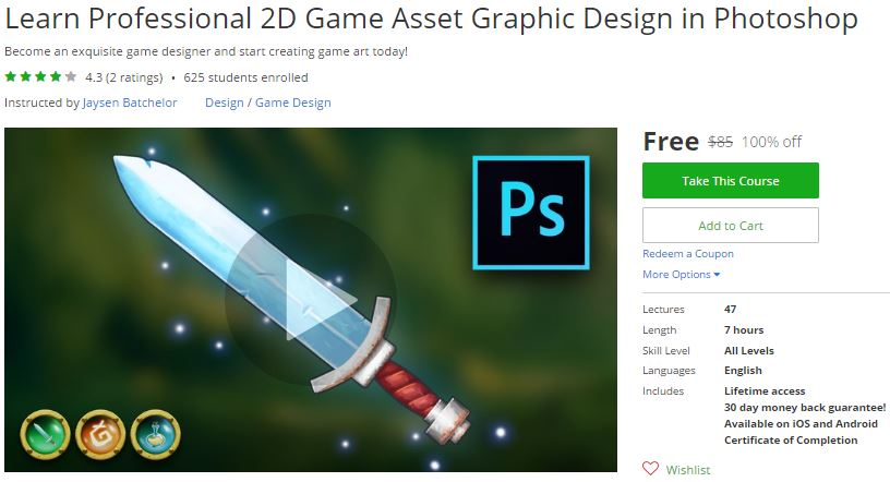 Udemy Coupon – Learn Professional 2D Game Asset Graphic
