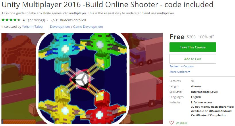 Udemy Coupon – Unity Multiplayer 2016 -Build Online Shooter