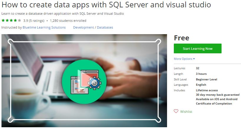 Udemy Coupon How To Create Data Apps With Sql Server And Visual Studio Free Coupon Discount
