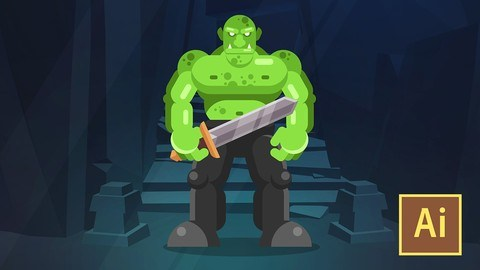 Udemy Coupon-Learn Illustrator CC: Create a Simple Flat Vector Orc