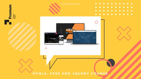 Udemy Coupon-Learn modern web design and build 7 real world websites while learning HTML5, CSS3 and JavaScript library- jQuery.