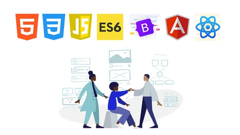 Udemy Coupon-Learn Complete Front End Web Development with HTML5, CSS3, Bootstrap 5, JavaScript, ECMAScript 6, Angular & React JS