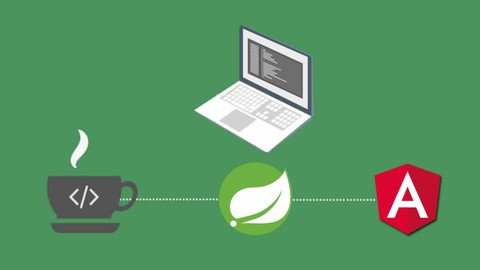 Udemy Coupon-Develop a full stack web application using Spring boot and Angular Material Design