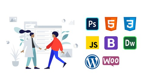 Udemy Coupon-Learn to Build Websites with Photoshop, HTML5, CSS3, JavaScript, Bootstrap 5, Dreamweaver CC, WordPress & WooCommerce
