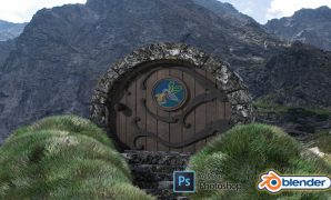 Udemy Coupon-Learn all about the Blender 2.9 by creating a whimsical fantasy landscape with grass foliage
