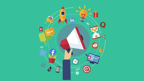 Udemy Coupon-A Comprehensive Guide to Digital Marketing that covers Quora, Reddit, Linkedin, Twitter, Facebook, TikTok, and Instagram