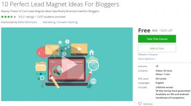 Udemy Coupon – 10 Perfect Lead Magnet Ideas For Bloggers