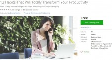 Udemy Coupon – 12 Habits That Will Totally Transform Your Productivity