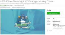Udemy Coupon – 2017 Affiliate Marketing + SEO Strategy – Mastery Course