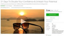 Udemy Coupon – 21 Days To Double Your Confidence & Unleash Your Potential