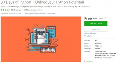 Udemy Coupon – 30 Days of Python | Unlock your Python Potential