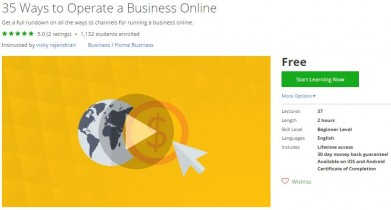 Udemy Coupon – 35 Ways to Operate a Business Online