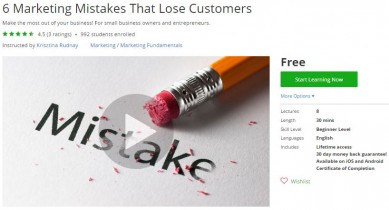 Udemy Coupon – 6 Marketing Mistakes That Lose Customers