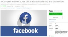 Udemy Coupon – A Comprehensive Course of FaceBook Marketing and promotions