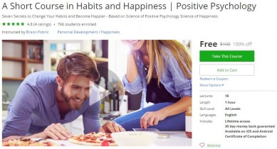 Udemy Coupon – A Short Course in Habits and Happiness | Positive Psychology