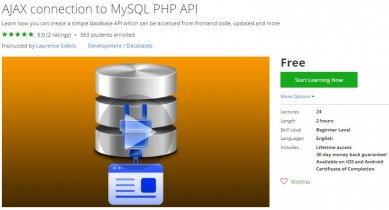 Udemy Coupon – AJAX connection to MySQL PHP API
