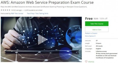 Udemy Coupon – AWS: Amazon Web Service Preparation Exam Course