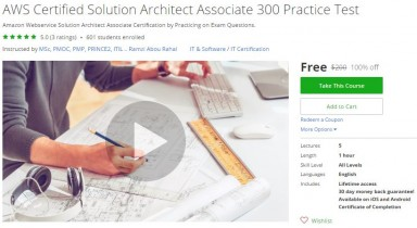 Udemy Coupon – AWS Certified Solution Architect Associate 300 Practice Test