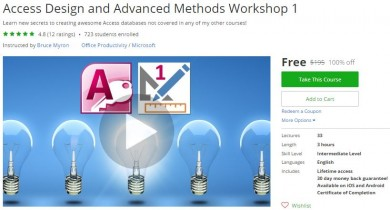 Udemy Coupon – Access Design and Advanced Methods Workshop 1