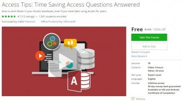 Udemy Coupon – Access Tips: Time Saving Access Questions Answered