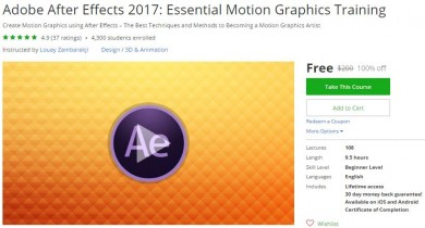 Udemy Coupon – Adobe After Effects 2017: Essential Motion Graphics Training