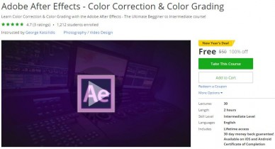 Udemy Coupon – Adobe After Effects – Color Correction & Color Grading