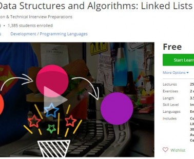 Udemy Coupon – Advanced Data Structures and Algorithms: Linked Lists