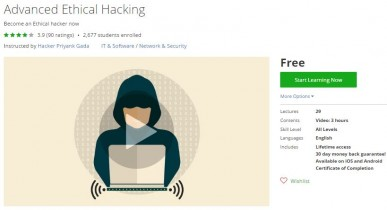 Udemy Coupon – Advanced Ethical Hacking