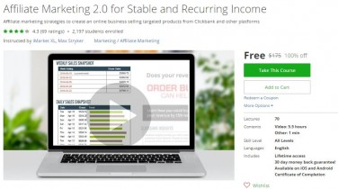 Udemy Coupon – Affiliate Marketing 2.0 for Stable and Recurring Income