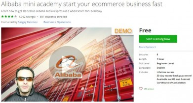 Udemy Coupon – Alibaba mini academy start your ecommerce business fast