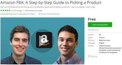 Udemy Coupon – Amazon FBA: A Step-by-Step Guide to Picking a Product