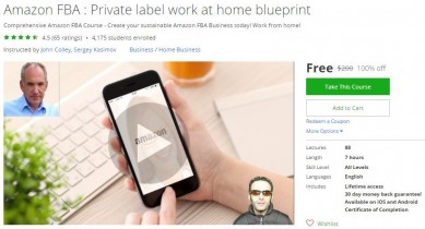 Udemy Coupon – Amazon FBA : Private label work at home blueprint