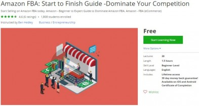 Udemy Coupon – Amazon FBA: Start to Finish Guide -Dominate Your Competition