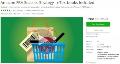Udemy Coupon – Amazon FBA Success Strategy – eTextbooks Included