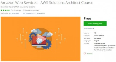 Udemy Coupon – Amazon Web Services – AWS Solutions Architect Course