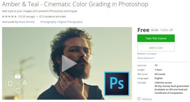 Udemy Coupon – Amber & Teal – Cinematic Color Grading in Photoshop