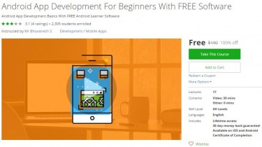 Udemy Coupon – Android App Development For Beginners With FREE Software