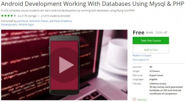 Udemy Coupon – Android Development Working With Databases Using Mysql & PHP