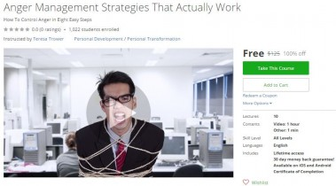 Udemy Coupon – Anger Management Strategies That Actually Work
