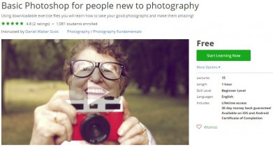 Udemy Coupon – Basic Photoshop for people new to photography