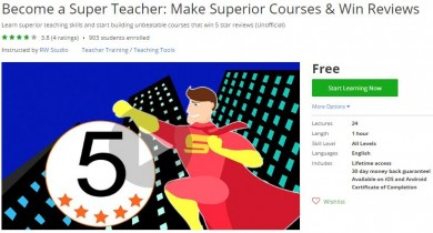 Udemy Coupon – Become a Super Teacher: Make Superior Courses & Win Reviews