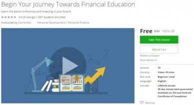 Udemy Coupon – Begin Your Journey Towards Financial Education