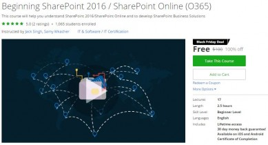 Udemy Coupon – Beginning SharePoint 2016 / SharePoint Online (O365)