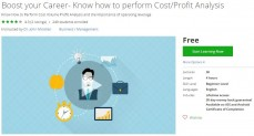 Udemy Coupon – Boost your Career- Know how to perform Cost/Profit Analysis