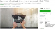 Udemy Coupon – Bootstrap 4 Rapid web development framework HTML CSS JS