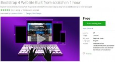 Udemy Coupon – Bootstrap 4 Website Built from scratch in 1 hour