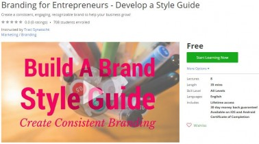 Udemy Coupon – Branding for Entrepreneurs – Develop a Style Guide