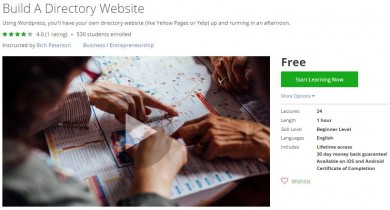 Udemy Coupon – Build A Directory Website
